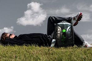 A Backpack + Speaker to Weather the Storm