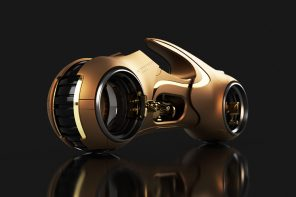 The Tron Light Cycle gets the Midas Touch!