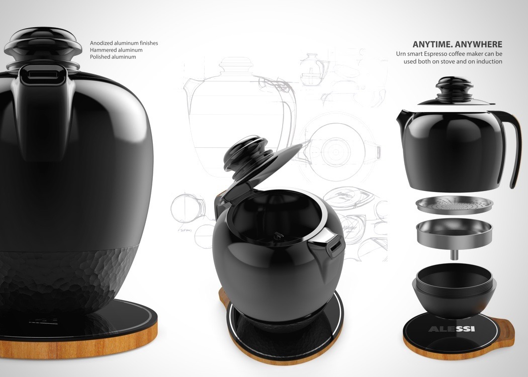 One Cool Black Coffee Maker.... : Yanko Design - howlDb