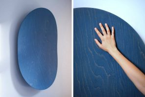 This wood panel plays MP3s