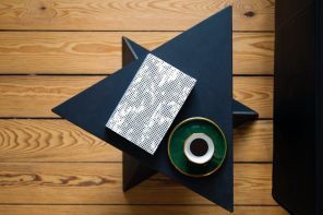 Geometric Art in an Accent Table
