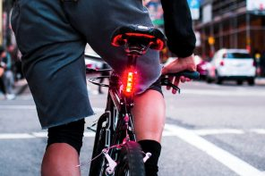 A Car's Brake Lights on a Bike