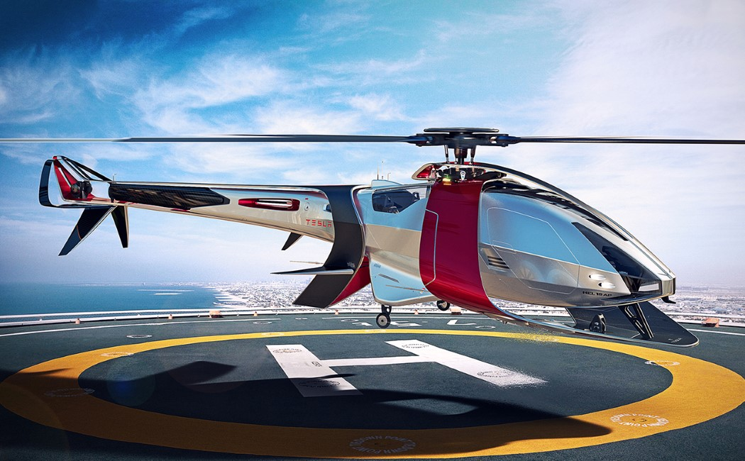 Tesla Turns The Helicopter Electric Yanko Design