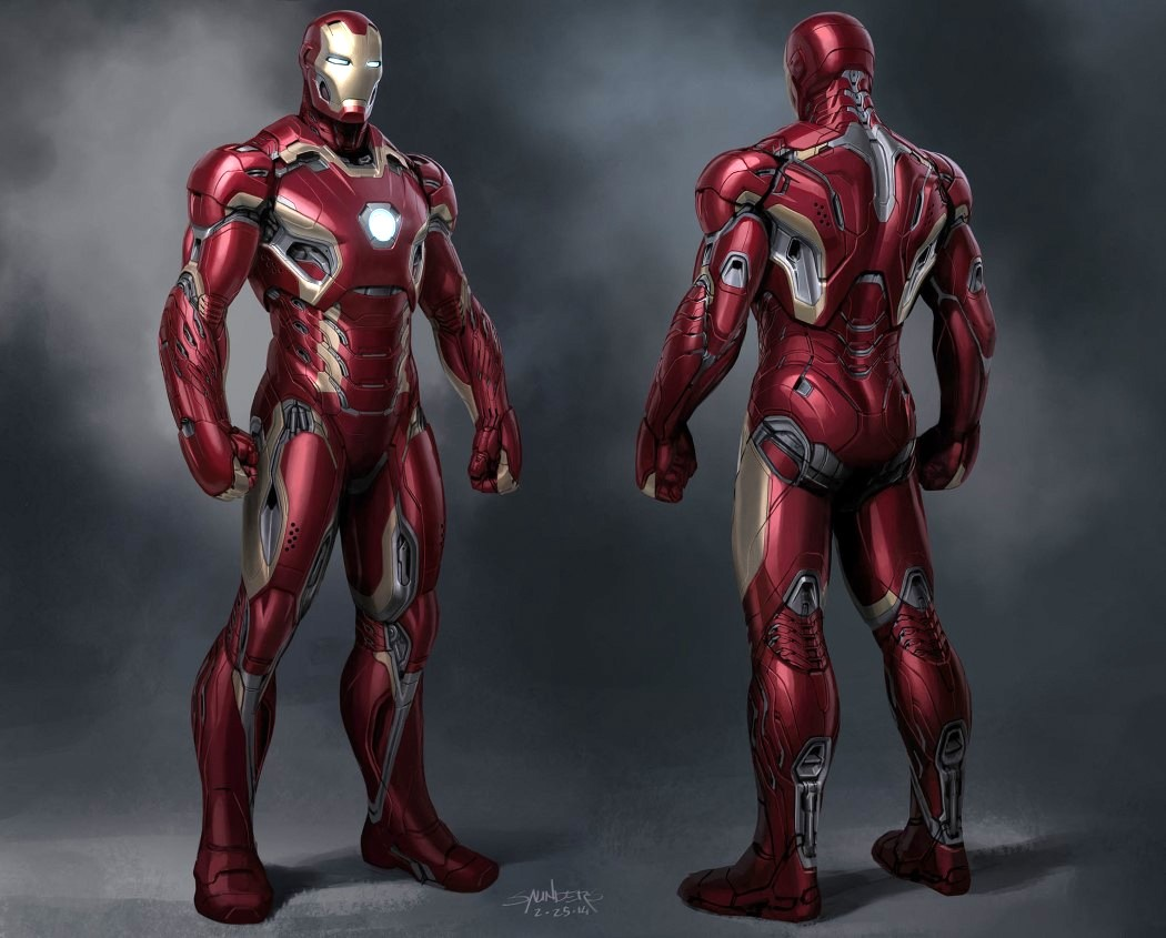 Philu0027s visualization of the Mark 46 suit for Captain America Civil War. u201c & Phil Saunders the concept designer behind the Iron Man suits ...