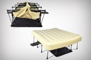 The Ez-Bed goes from box to bed in two minutes!