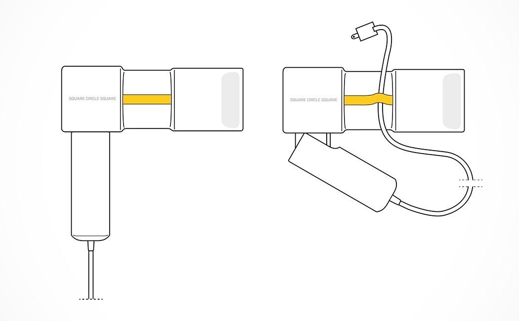 A Draw Friendly Hairdryer Yanko Design