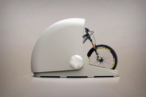 A sleek and secure storage space for your bicycle!