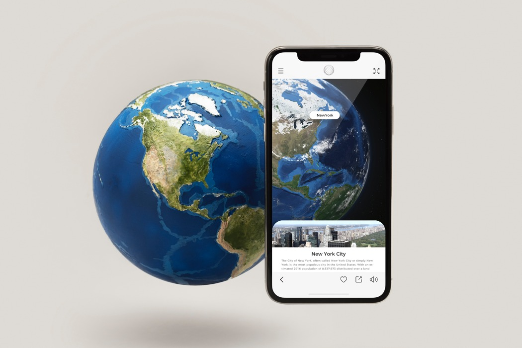 Map meet app this ar globe brings our planet earth to life eartharailayout gumiabroncs Images