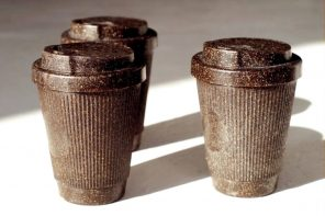 A cup for coffee, made from coffee