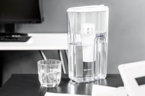 The Cleansui filtering jug is as pristine-looking as the water inside