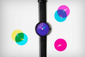 The Blend watch uses color theory to tell the time