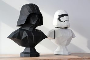 You can make your own low-poly sith lord!