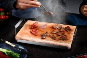 AEG's Salt Block cooks and seasons your food at the same time