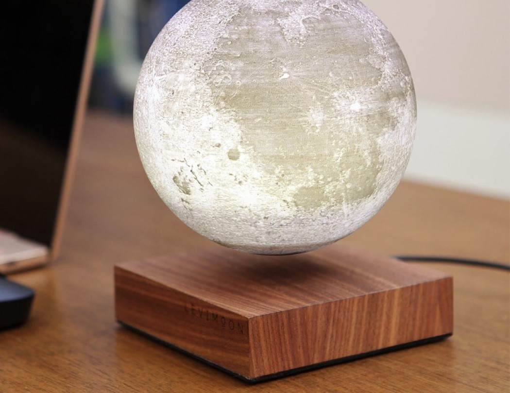 The Levimoon brings a levitating, light-up moon replica to your bedside table!