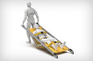 The single-person-operated stretcher promises faster rescue times
