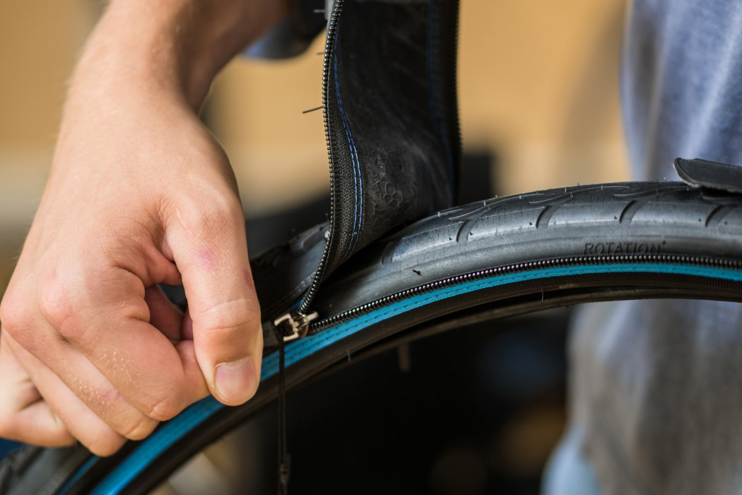 Imagine being able to zip new treads onto your bicycle tires