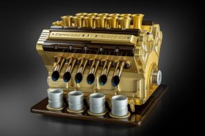 Let this V12 engine espresso maker supercharge your coffee and your day