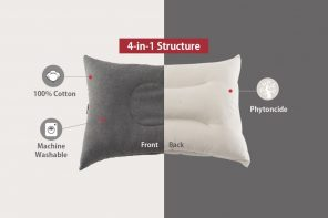 The Ultimate Sleeping Pillow was Redesigned from Inside Out