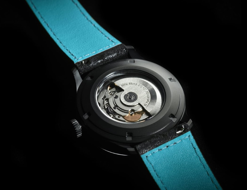 This watch-face is made from the world's blackest pigment ...