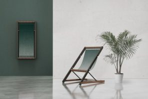 The Loom Chair becomes wall-decor when not in use