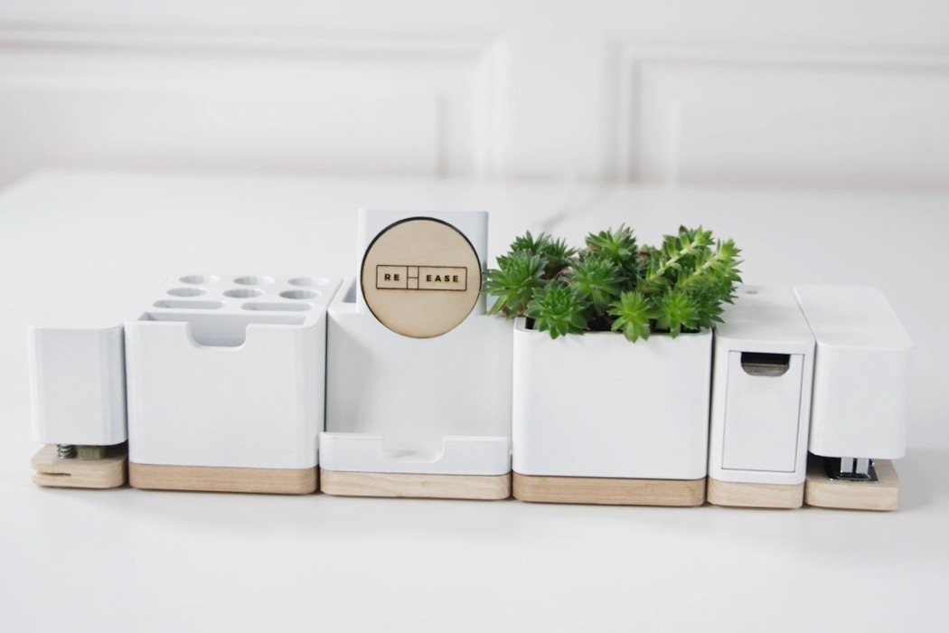 reease modular desk organizer hero