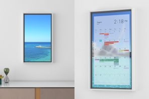 This hi-def smart-display acts as a window into a world of your choice!
