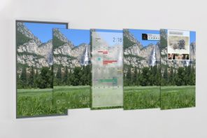 A Google assisted 4K window display that transports you to any destination of your choice!
