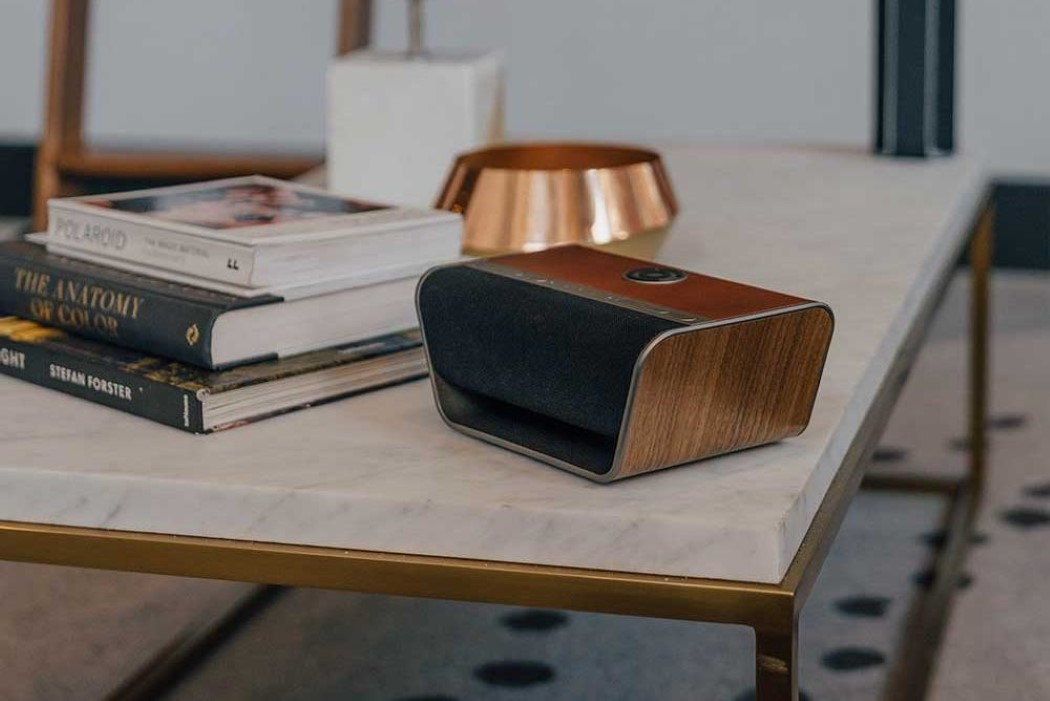 The Cavalier Air is a hipster-looking smart-speaker that also wirelessly charges phones