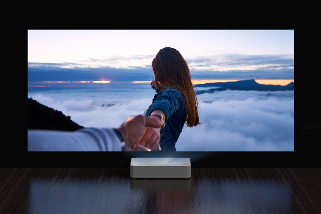 The VAVA 4K Laser Projector turns any wall into a 150-inch cinema screen