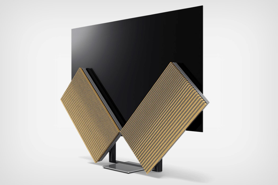 The Bang & Olufsen Beovision Harmony is a TV with dancing speakers.