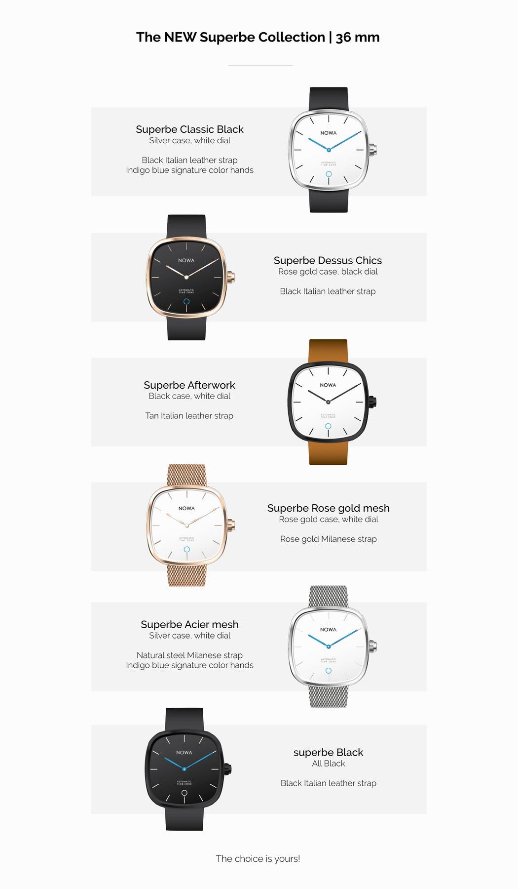 Meet the Nowa Superbe, a smartwatch that never needs