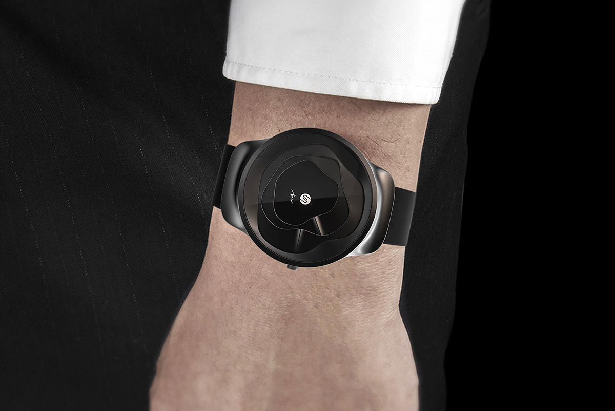 The Gemic Watch Tells Time Through Undulating 3D Surfaces