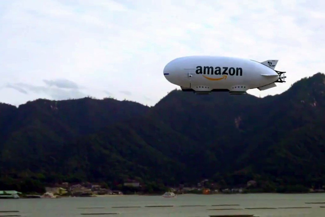 This drone-deploying blimp could be Amazon's next aerial fulfillment center