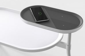 Wirelessly charging side table gets your phone juiced while you snooze