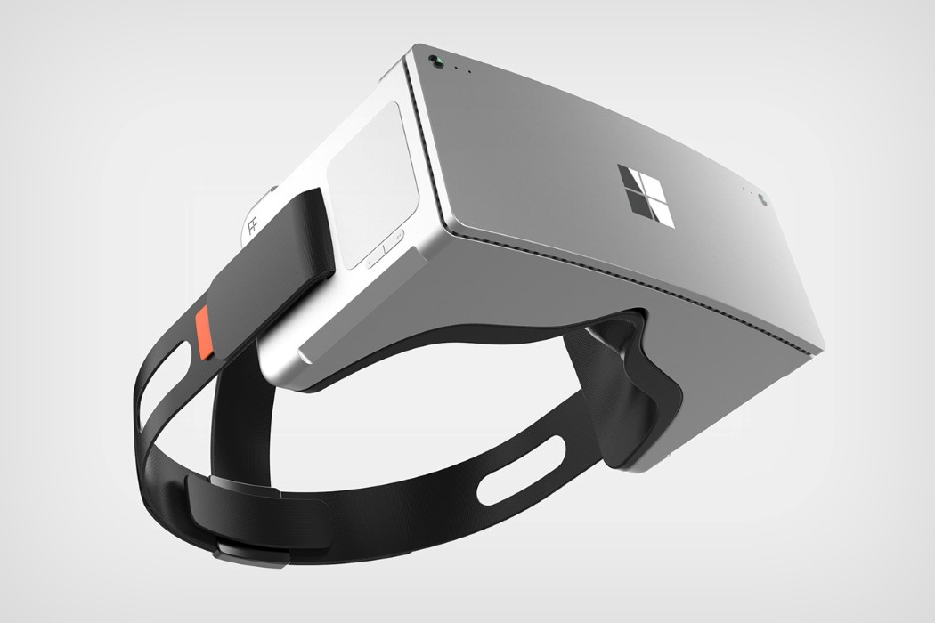 No this isn't the Hololens, it's a Surface VR headset