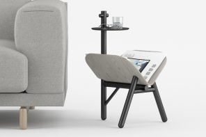 Who needs a butler with this side-table that holds magazines open for you!