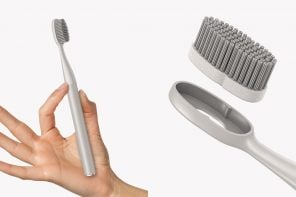An eco-friendly brush that calculates the plastic you have saved from the trash