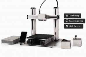 This one single desktop device can 3D Print, laser engrave, and CNC machine.