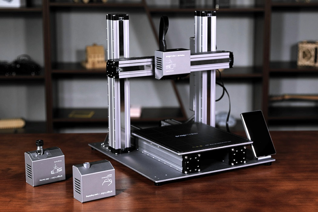 The Snapmaker 2 0 Can 3d Print Laser Engrave And Is A Cnc Machine Yanko Design