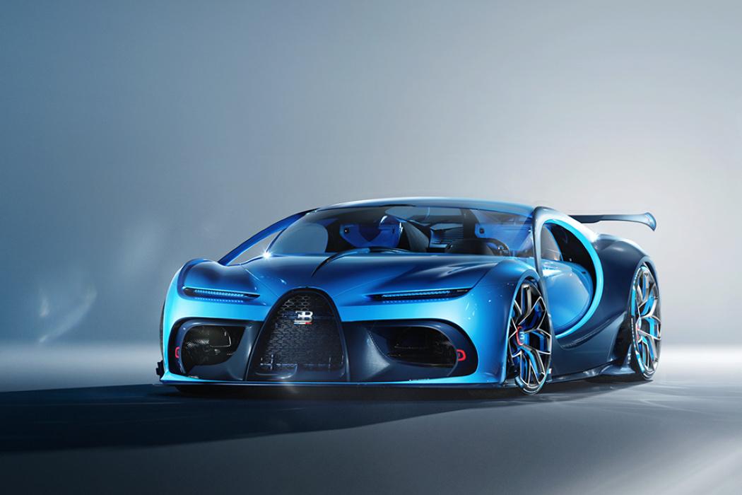 Gps Car Tracker >> The Bugatti Type 103 concept has a Bugatti front and a ...