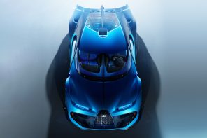 The Bugatti Type 103 concept has a Bugatti front and a Batmobile rear