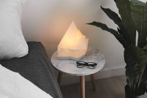 Gantri's Iceberg table lamp is a cool-looking light with a warm glow