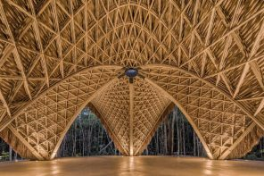 Designed completely in bamboo, the Luum Temple celebrates sustainable growth