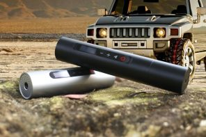 Compact Norshire Mini Tire Inflator for cars fixes low air in a jiffy