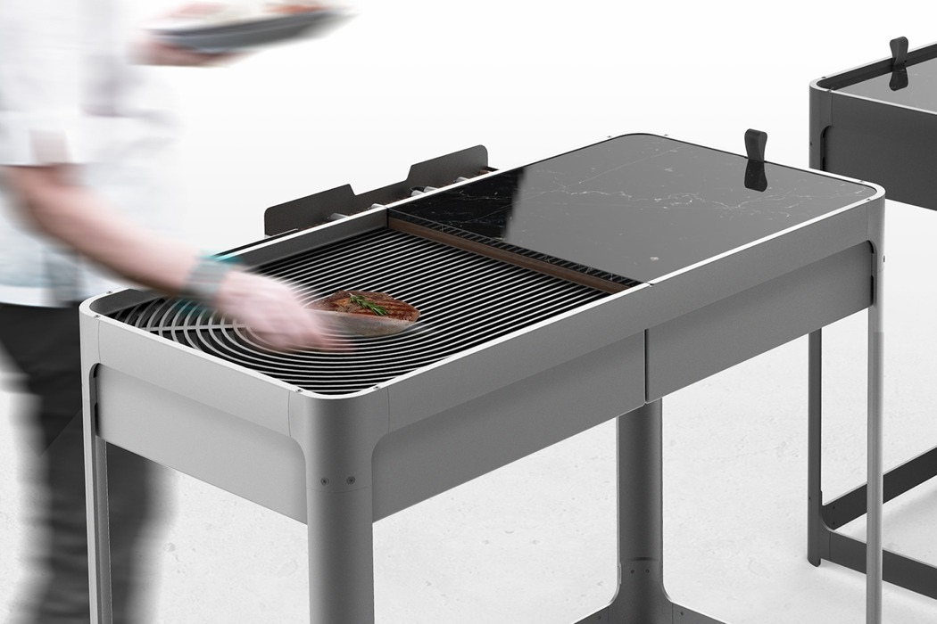 The Domino Barbecue transforms in a jiffy from outdoor ...