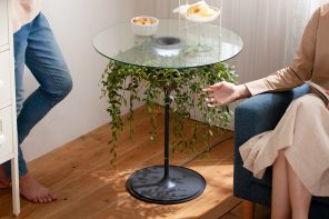 The Oasis planter is actually a side table with lamp