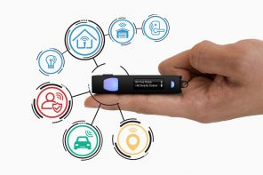 This Key-fob is like a universal remote for all your smart-devices