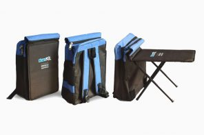 A backpack for rural schoolchildren that converts into a writing desk!