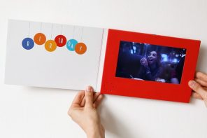 It was only a matter of time before personalized gift cards started coming with LCD displays