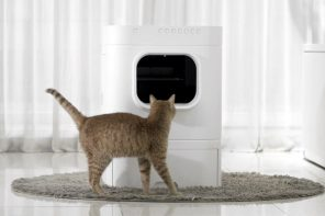 The LavvieBot S cleans up after your cat does its business